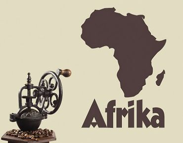 Wandtattoo No.UL197 Landkarte Afrika