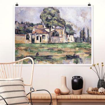 Poster - Paul Cézanne - Ufer der Marne - Querformat 3:4