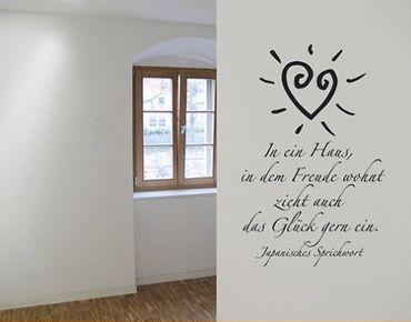 Wandtattoo Zitate - Wandzitate No.SF166 Freude im Haus