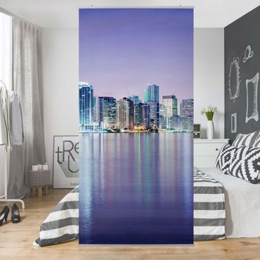 Raumteiler - Purple Miami Beach 250x120cm