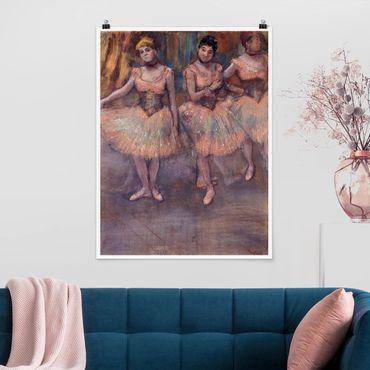 Poster - Edgar Degas - Tänzerinnen vor Exercice - Hochformat 3:4
