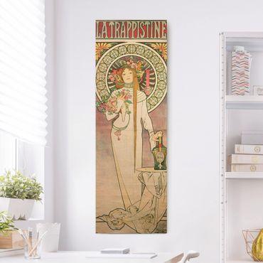 Leinwandbild - Alfons Mucha - Werbeplakat für La Trappistine - Panorama Hochformat 3:1