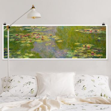 Poster - Claude Monet - Grüne Seerosen - Panorama Querformat