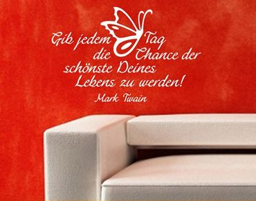 Wandtattoo Zitate - Wandzitate No.SF190 Mark Twain