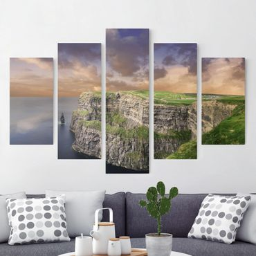 Leinwandbild 5-teilig - Cliffs Of Moher