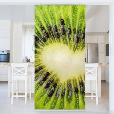 Raumteiler - Kiwi Heart 250x120cm