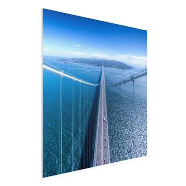 Forex Fine Art Print - Brücke zur Insel - Quadrat 1:1