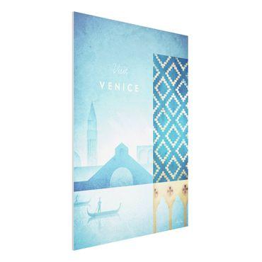 Forex Fine Art Print - Reiseposter - Venedig - Hochformat 4:3