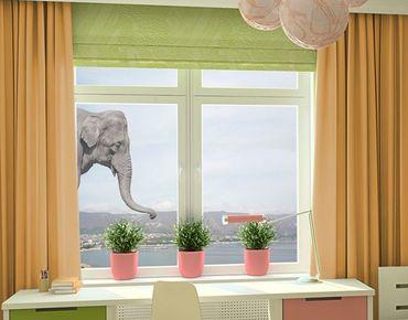 Fensterfolie - Fenstersticker No.3 Elefant - Fensterbilder