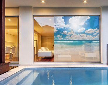 Fensterfolie - Sichtschutz Fenster Touch of Paradise - Fensterbilder