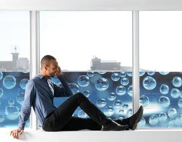 Fensterfolie - Sichtschutz Fenster Dark Bubbles - Fensterbilder