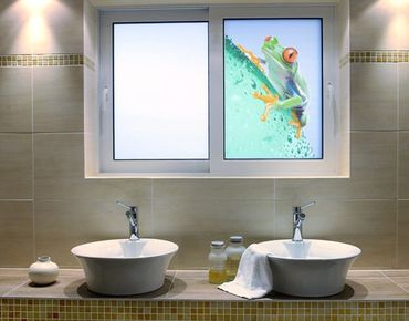 Fensterfolie - Sichtschutz Fenster Frog - Fensterbilder