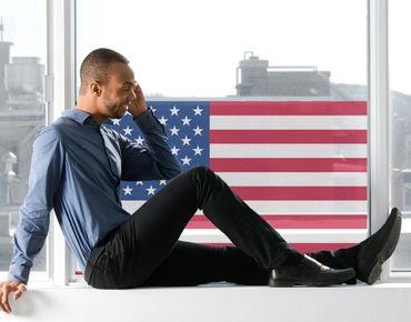 Fensterfolie - Sichtschutz Fenster USA Flag - Fensterbilder