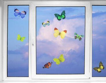 Fensterfolie - Fenstersticker - Fensterbild - No.32 Schmetterlinge Set1 - Fensterbilder Frühling