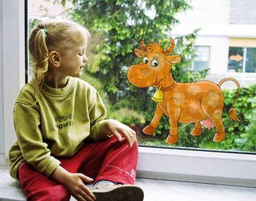 Fensterfolie - Fenstersticker No.38 Kuh - Fensterbilder