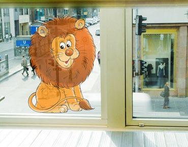 Fensterfolie - Fenstersticker No.40 braver Löwe - Fensterbilder