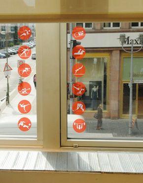 Fensterfolie - Fenstersticker No.220 Sport Set - Fensterbilder