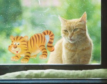 Fensterfolie - Fenstersticker No.60 Tiger - Fensterbilder