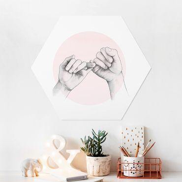 Hexagon Bild Forex - Illustration Hände Freundschaft Kreis Rosa Weiß