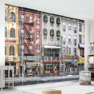 Schiebegardinen Set - Kalter Tag in NY - Flächenvorhänge