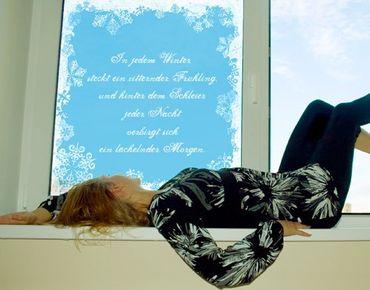 Fensterfolie - Sichtschutz Fenster Wunschtext Ice crystals - Fensterbilder