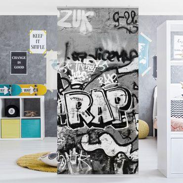 Raumteiler Kinderzimmer - Graffiti Art 250x120cm