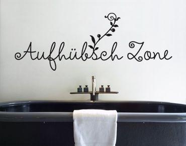 Wandtattoo Sprüche - Wandworte No.SF548 Aufhübschzone