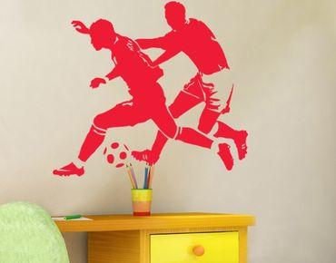 Wandtattoo Fußball - Kinderzimmer No.UL291 Fußballzweikampf2