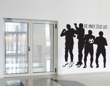 Wandtattoo Fußball - Kinderzimmer No.UL294 mauer steht gut