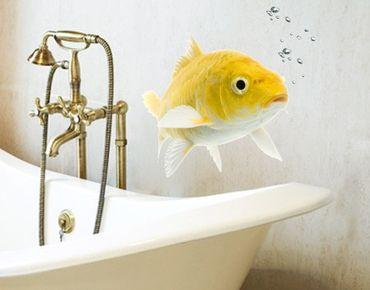 Wandtattoo No.131 Goldfisch gelb