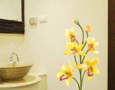 Wandtattoo Orchidee No.173 Orchidee Gelb