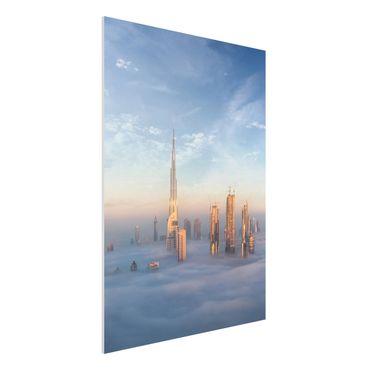 Forex Fine Art Print - Dubai über den Wolken - Hochformat 4:3