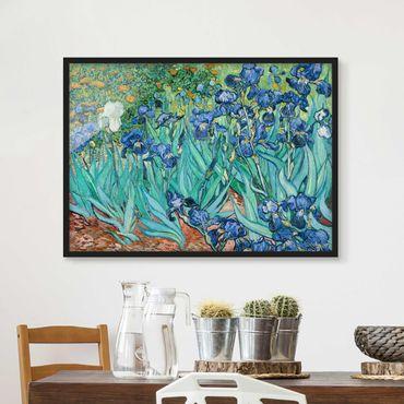 Bild mit Rahmen - Vincent van Gogh - Iris - Querformat 3:4