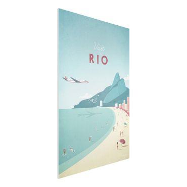 Forex Fine Art Print - Reiseposter - Rio de Janeiro - Hochformat 3:2