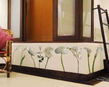 Wandtattoo Tulpe Orchidee No.SB67 Flowerpower Weiß