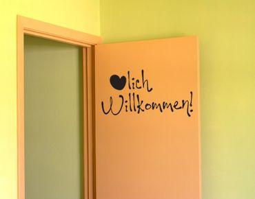 Wandtattoo Sprüche - Wandworte No.UL352 Herzlich willkommen