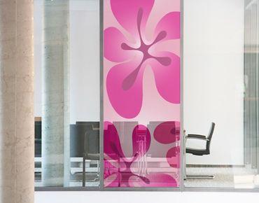 Fensterfolie - Sichtschutz Fenster No.UL355 HawaiiFeeling Pink - Fensterbilder