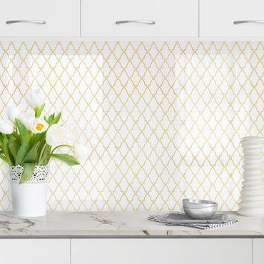 Küchenrückwand - Orientalisches Muster mit goldenen Ornamenten
