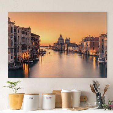 Leinwandbild - Goldenes Venedig - Querformat 2:3