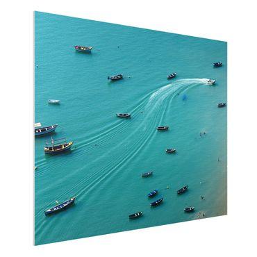 Forex Fine Art Print - Ankernde Fischerboote - Querformat 3:4
