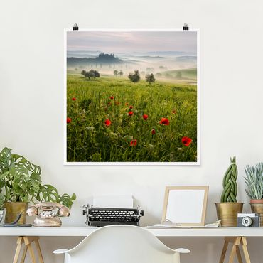 Poster - Toskana Frühling - Quadrat 1:1