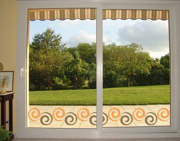 Fensterfolie - Fenstersticker Bordüre No.216 Curl - Fensterbilder