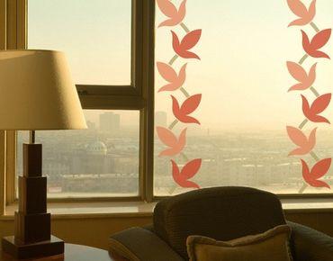 Fensterfolie - Fenstersticker Bordüre No.223 Weinblätter - Fensterbilder