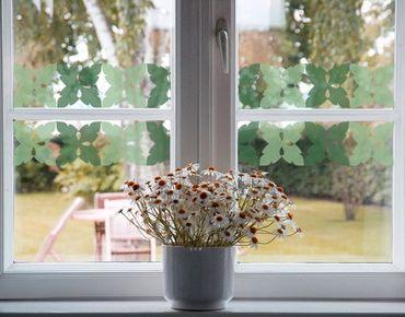 Fensterfolie - Fenstersticker Bordüre No.225 Leaves III - Fensterbilder