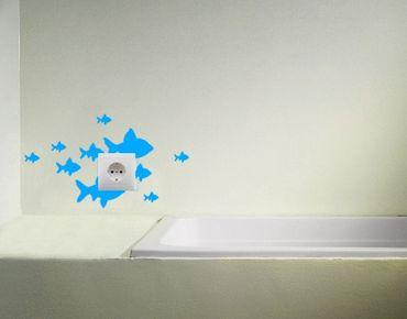 Wandtattoo Fische No.CG21 Fischschwarm 19cm x 33cm