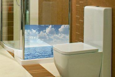 Fensterfolie - Sichtschutz Fenster Shining Ocean - Fensterbilder