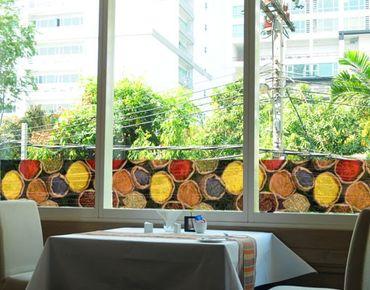 Fensterfolie - Sichtschutz Fenster Bordüre Colourful Spices - Fensterbilder