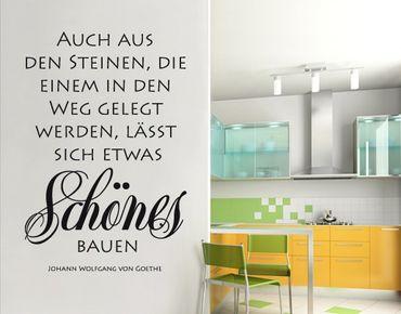 Wandtattoo Zitate - Wandzitate No.SF685 Goethes Steine