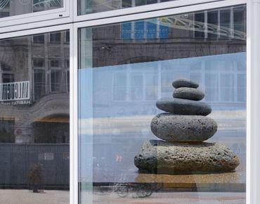 Fensterfolie - Sichtschutz Fenster Sand Stones - Fensterbilder
