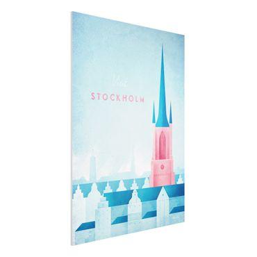 Forex Fine Art Print - Reiseposter - Stockholm - Hochformat 4:3